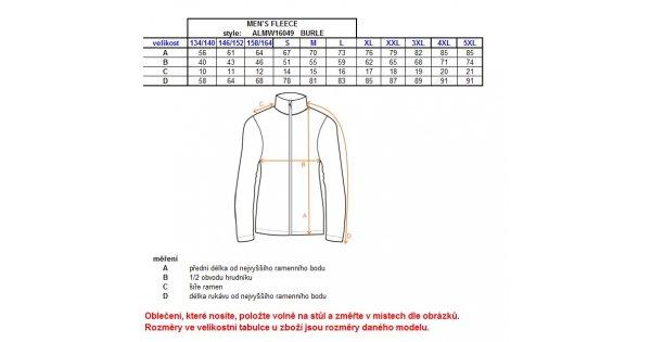 Pánská fleece mikina ALTISPORT BURLE ALMW16049 MODRÁ velikost  M   ALTISPORT .sk 304825e12a