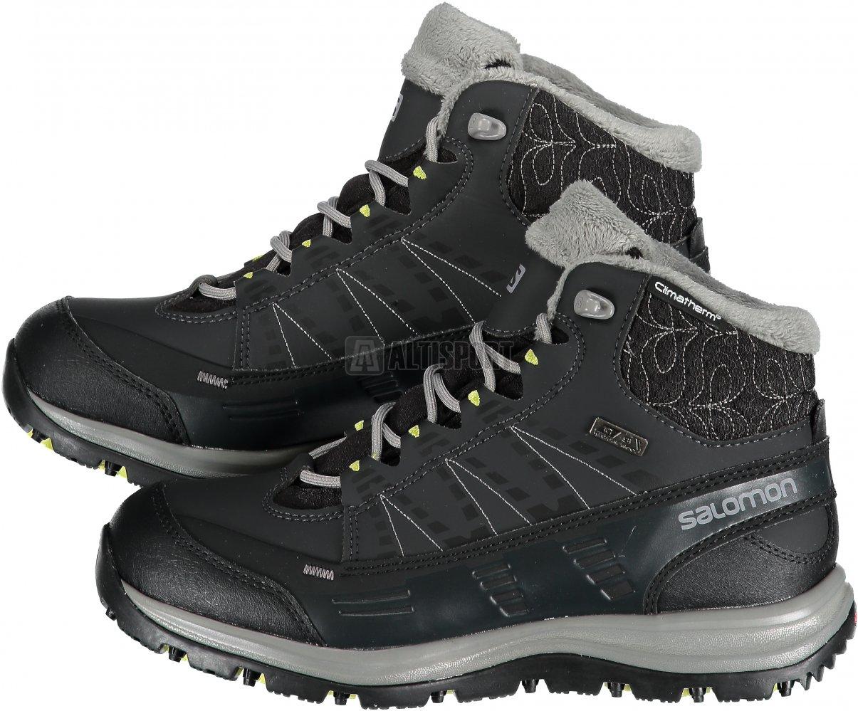 Dámské zimní boty Salomon Kaina CS WP 2 Black asphalt flashy-x ... 8aa3529687