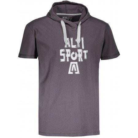 Pánské tričko s krátkým rukávem ALTISPORT ROGES TMAVĚ ŠEDÁ