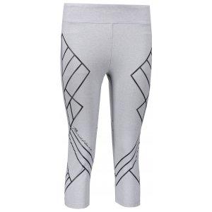 Dámské 3/4 kalhoty na jógu NORDBLANC DRAUGHT NBSPL6699 SVĚTLE ŠEDÝ MELÍR