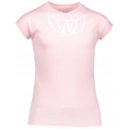 Dívčí tričko NORDBLANC HEARTY NBSKT6822S RŮŽOVÝ TULIPÁN