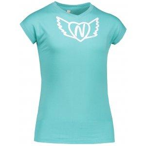 Dívčí tričko NORDBLANC HEARTY NBSKT6822S MODRÁ AGÁVE