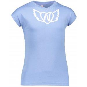 Dívčí tričko NORDBLANC HEARTY NBSKT6822S FIALOVÝ KVĚT
