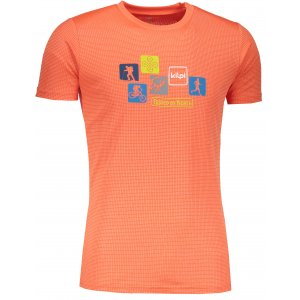 Pánské funkční triko s krátkým rukávem KILPI GIACINTO-M IM0110KI ORANŽOVÁ