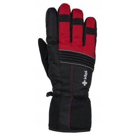 Lyžařské rukavice KILPI GRANT-U JU0160KI ČERVENÁ