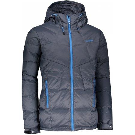 Pánská péřová bunda ICEPEAK BARAK LEAD/GREY