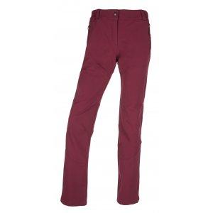 Dámské softshellové kalhoty KILPI LAGO-W JL0145KI TMAVĚ ČERVENÁ