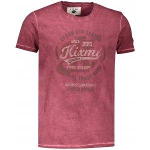 Pánské triko s krátkým rukávem KIXMI HORTON VÍNOVÁ