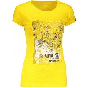 Dámské triko s krátkým rukávem ALPINE PRO PEFRA LTSN566 ŽLUTÁ