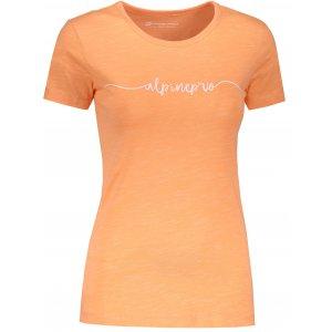 Dámské tričko s krátkým rukávem ALPINE PRO ROZENA 5 LTSN428 ORANŽOVÁ