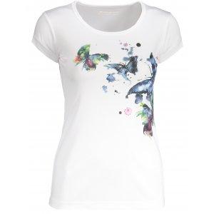 Dámské tričko s krátkým rukávem ALPINE PRO QUARTO 4 LTSN417 BÍLÁ