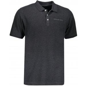 Pánské triko s límečkem ALPINE PRO TONRAR MTSN437 ČERNÁ