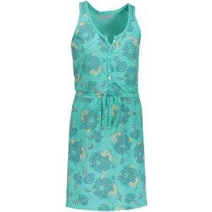 Dívčí šaty ALPINE PRO GOGO KSKN049 ZELENÁ