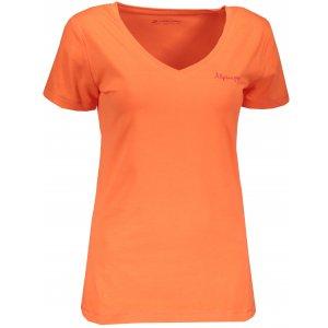 Dámské tričko s krátkým rukávem ALPINE PRO LUKA 2 LTSN344 ORANŽOVÁ