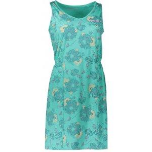 Dámské šaty ALPINE PRO VICA LSKN152 ZELENÁ