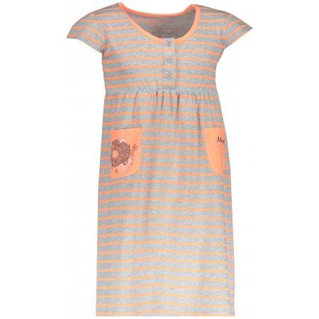 Dívčí šaty ALPINE PRO SARKO KSKN048 ORANŽOVÁ