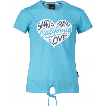 Dívčí triko s krátkým rukávem SAM 73 GT 522 NEON MODRÁ