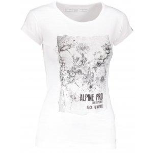 Dámské triko s krátkým rukávem ALPINE PRO PEFRA LTSN566 BÍLÁ