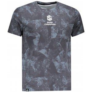 Pánské triko s krátkým rukávem PEAK ROUND NECK T SHIRT FW691151 TMAVĚ ŠEDÁ