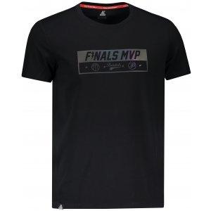 Pánské triko s krátkým rukávem PEAK ROUND NECK T SHIRT FW691291 ČERNÁ