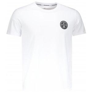 Pánské triko s krátkým rukávem PEAK ROUND NECK T SHIRT FW691361 BÍLÁ