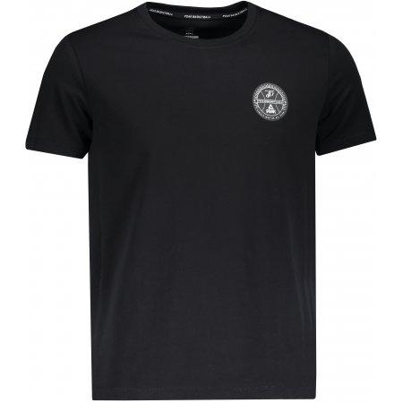 Pánské triko s krátkým rukávem PEAK ROUND NECK T SHIRT FW691361 ČERNÁ