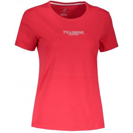 Dámské tričko PEAK ROUND NECK T SHIRT FW691112 ČERVENÁ