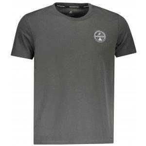 Pánské triko s krátkým rukávem PEAK ROUND NECK T SHIRT FW691361 ŠEDÁ