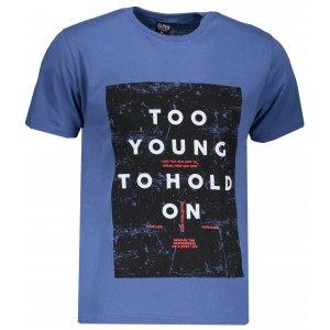 Pánské triko OMBRE AS1139 BLUE