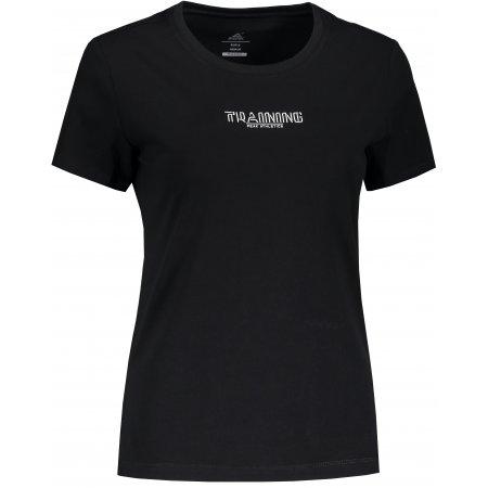 Dámské tričko PEAK ROUND NECK T SHIRT FW691112 ČERNÁ