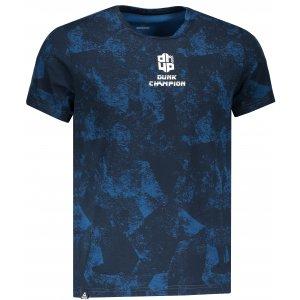 Pánské triko s krátkým rukávem PEAK ROUND NECK T SHIRT FW691151 MODRÁ