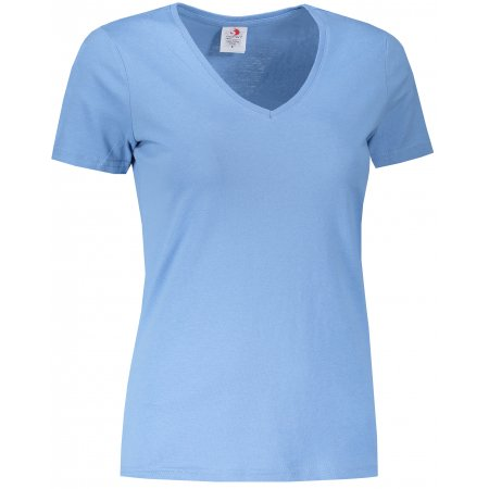 Dámské triko STEDMAN CLASSIC-T V-NECK LIGHT BLUE