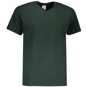 Pánské triko STEDMAN CLASSIC-T V-NECK BOTTLE GREEN