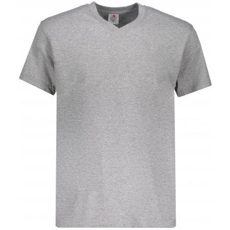 Pánské triko STEDMAN CLASSIC-T V-NECK GREY HEATHER