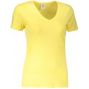 Dámské triko STEDMAN CLASSIC-T V-NECK YELLOW