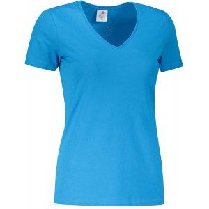 Dámské triko STEDMAN CLASSIC-T V-NECK OCEAN BLUE