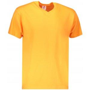 Pánské triko STEDMAN CLASSIC-T V-NECK ORANGE