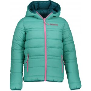 Dětská oboustranná zimní bunda ALPINE PRO SELMO KJCP149 ZELENÁ