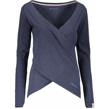 Dámské triko ALPINE PRO MAUDA LTSP507 TMAVĚ MODRÁ
