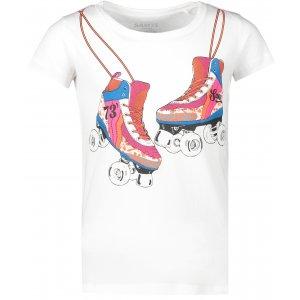 Dívčí triko s krátkým rukávem SAM 73 KTSP221 BÍLÁ