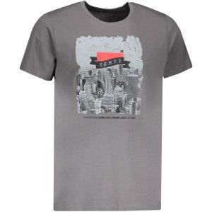 Pánské triko s krátkým rukávem SAM 73 MTSP431 ŠEDÁ