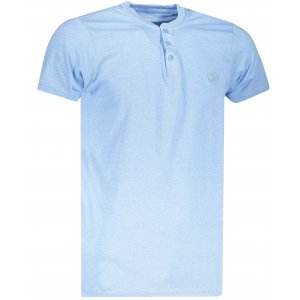 Pánské triko OMBRE AS1047 LIGHT BLUE