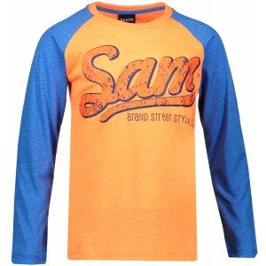 Chlapecké triko s dlouhým rukávem SAM 73 BT 531 NEON ORANŽOVÁ
