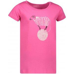 Dívčí triko s krátkým rukávem SAM 73 KTSP249 RŮŽOVÁ