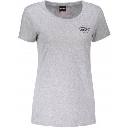 Dámské triko s krátkým rukávem SAM 73 WT 784 SVĚTLE ŠEDÁ