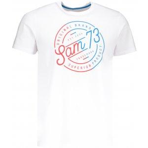 Pánské triko s krátkým rukávem SAM 73 MTSP429 BÍLÁ
