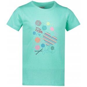 Dívčí triko s krátkým rukávem SAM 73 KTSP248 SVĚTLE ZELENÁ