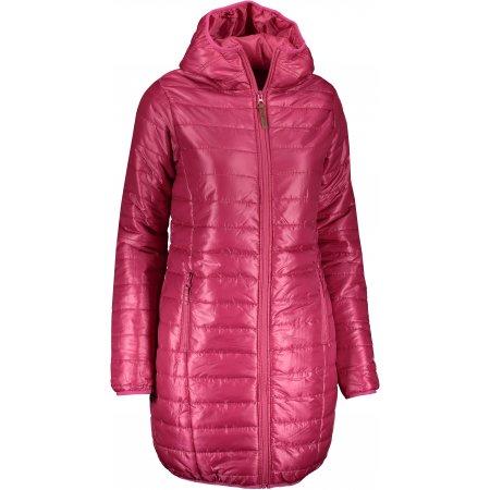 Dámský kabát  SAM 73 LCTP113 TMAVĚ RŮŽOVÁ