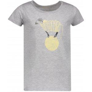 Dívčí triko s krátkým rukávem SAM 73 KTSP249 SVĚTLE ŠEDÁ