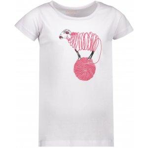 Dívčí triko s krátkým rukávem SAM 73 KTSP249 BÍLÁ